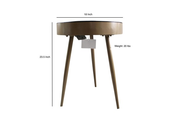 Iron Side Table Clock