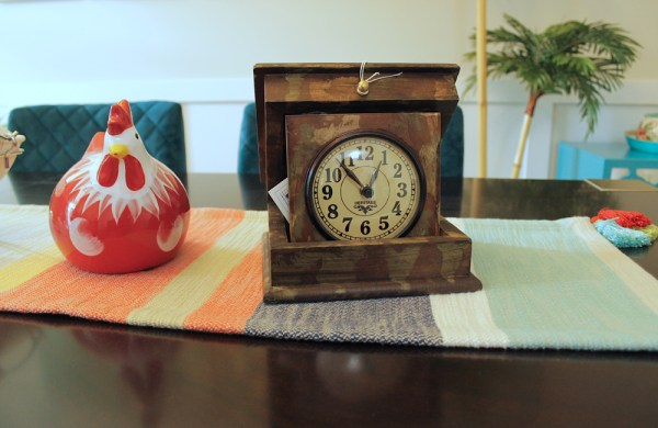 Folding Box Clock with Hand Painting