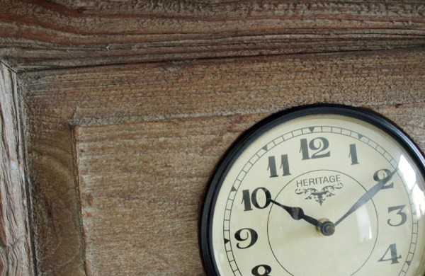 Upcycled Old Window Clock with Brass Hooks (Forest Green)