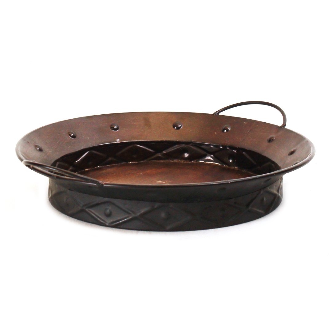 Buy Round Metal Tray With Handles FZ195 Series Online