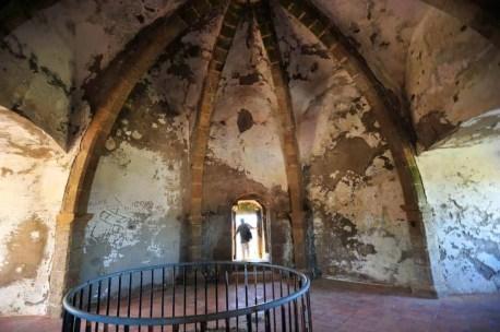 Interior do castelo medieval