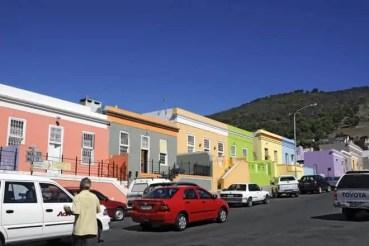 O colorido bairro Bo-Kaap, na Cidade do Cabo