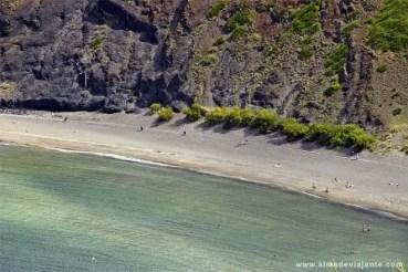 Praia de Porto Pim vista do monte da Guia