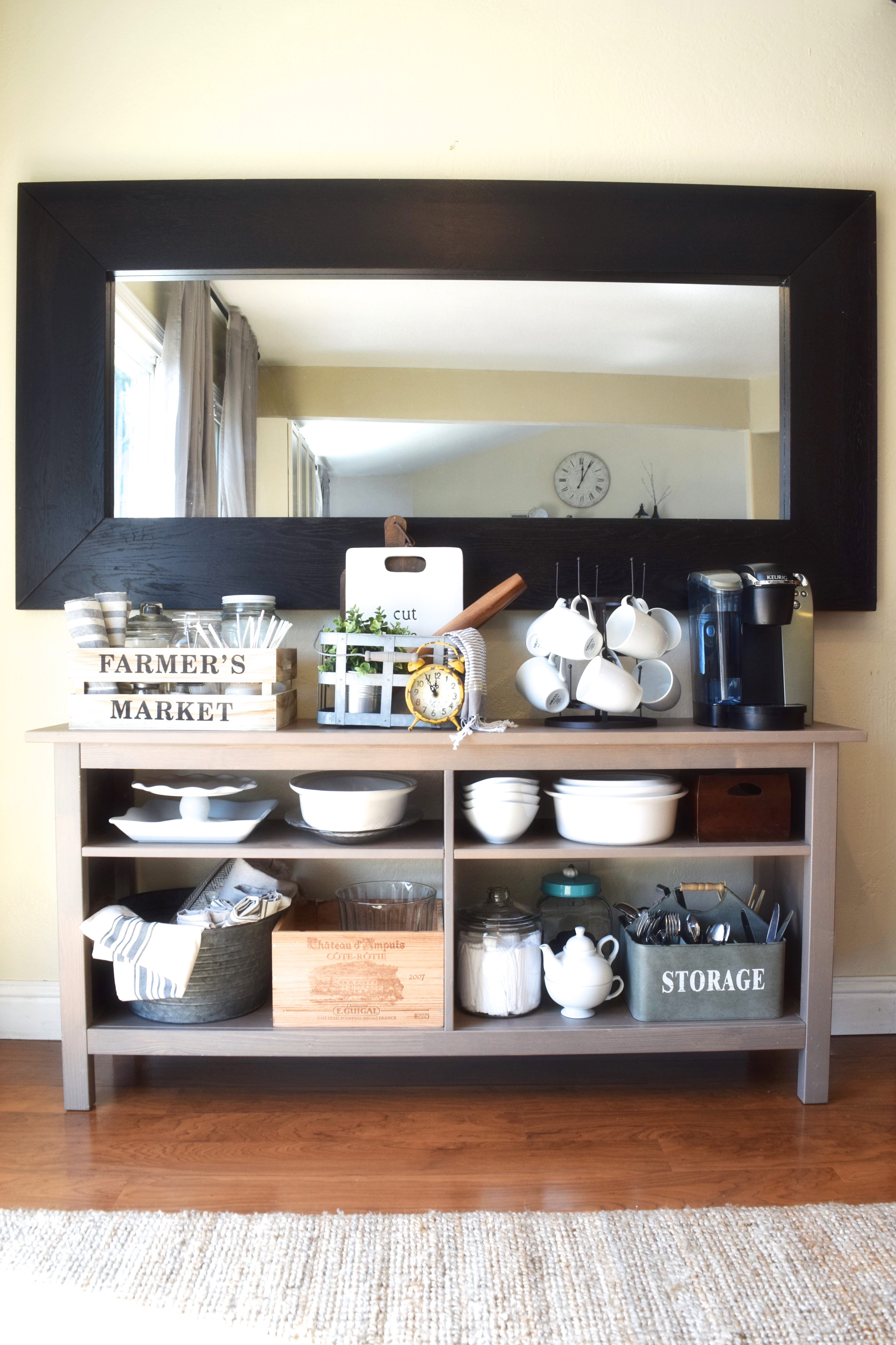 our imperfect repurposed side board ikea hack. Black Bedroom Furniture Sets. Home Design Ideas