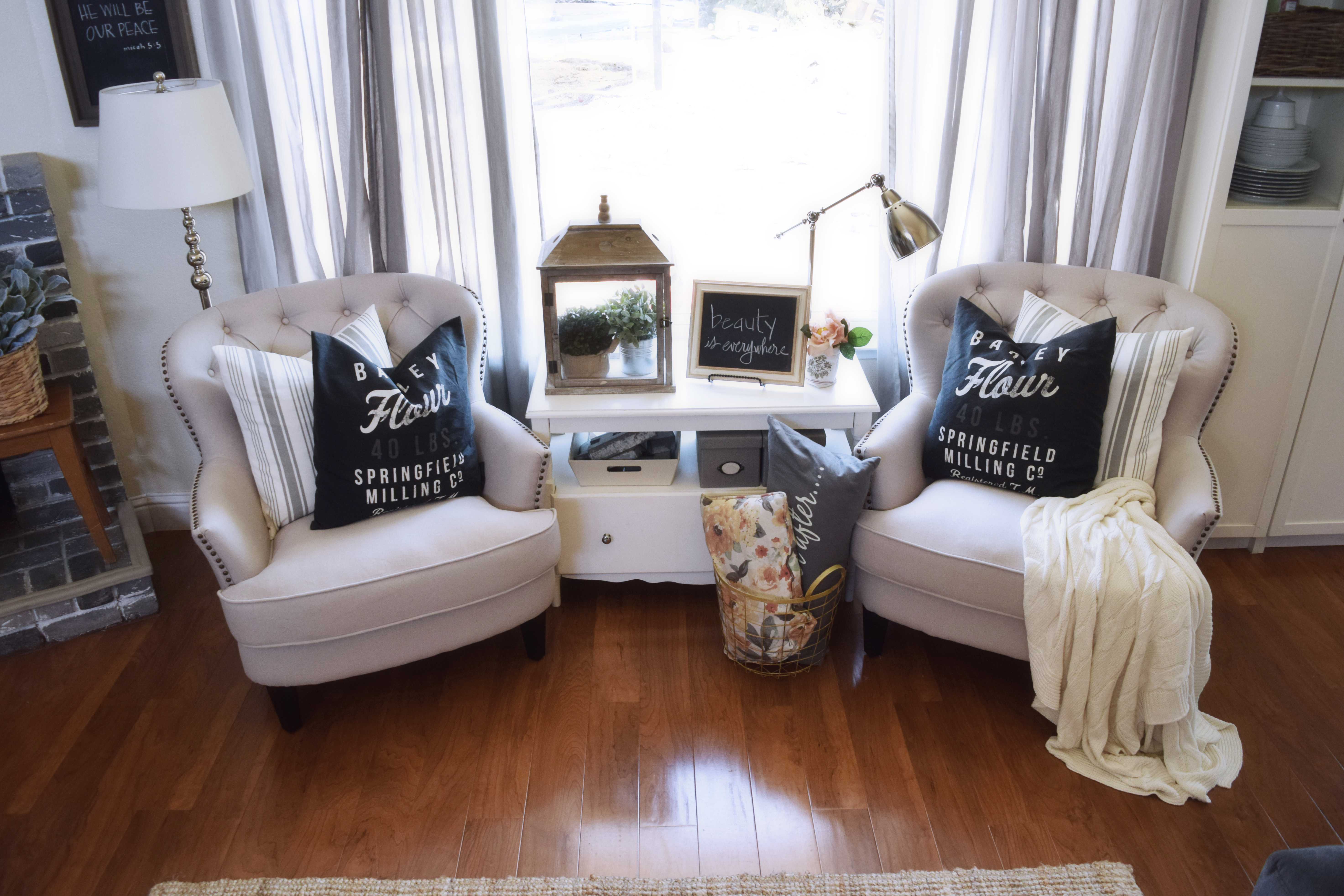 I Really Did Enjoy Having The Previous Chairs, But I Really Wanted To Have  Tufted Chairs In This Room To Give It Just A Touch Of Casual Chic.
