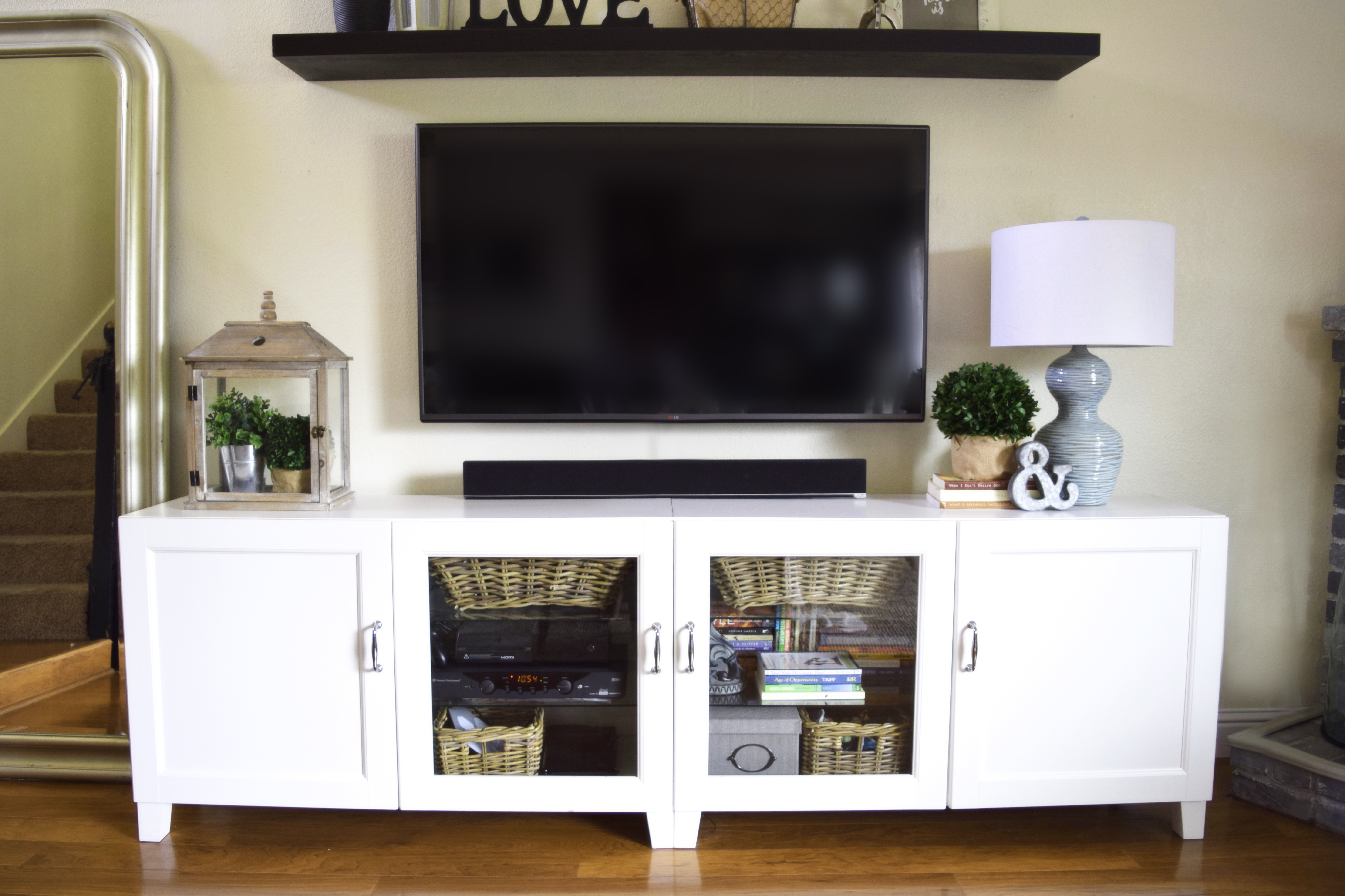 Our Somewhat Ikea Hacked Entertainment Center And An Honest Ikea