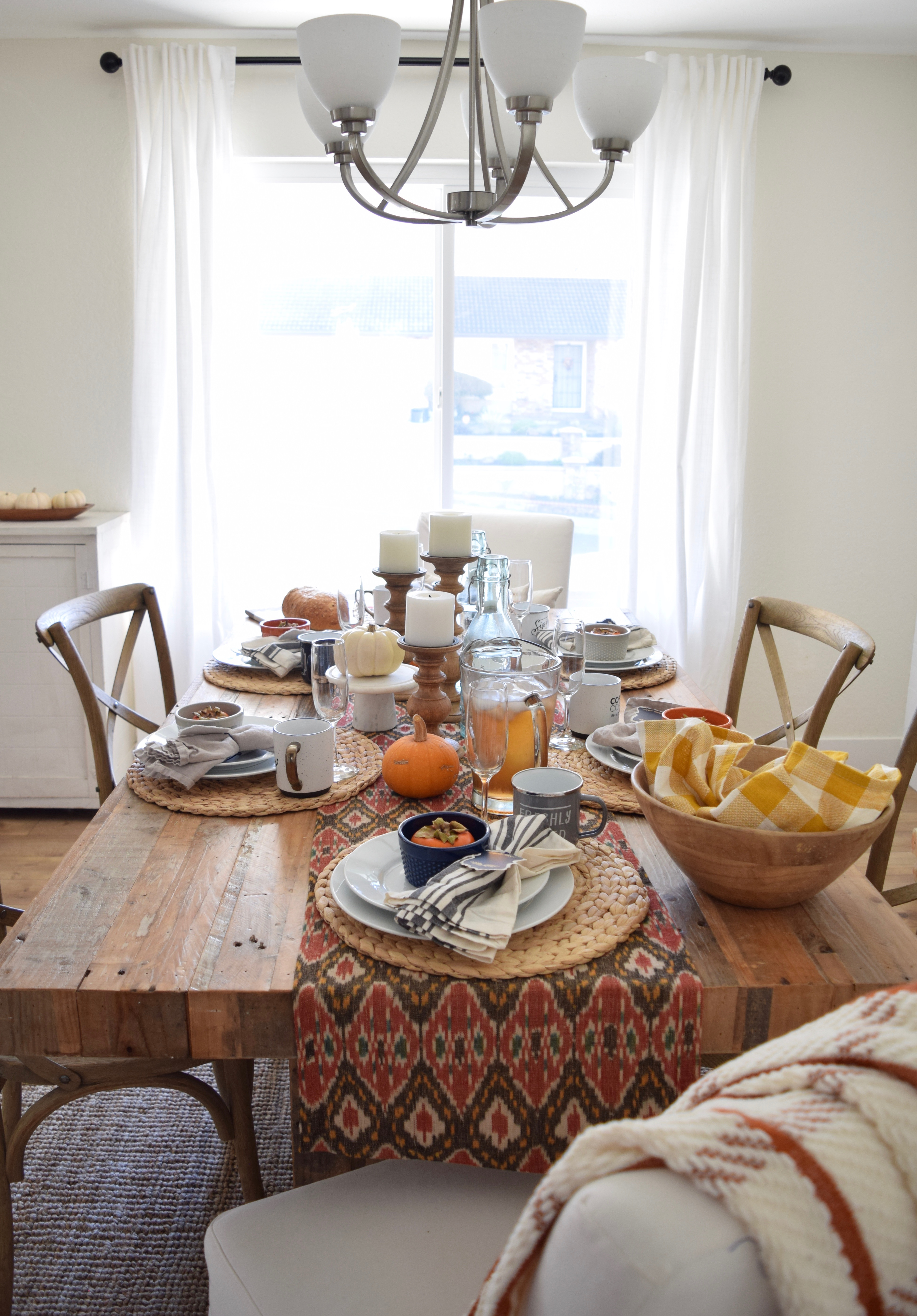 thanksgiving tablescape 2016 #2: an easy last minute neutral table ...