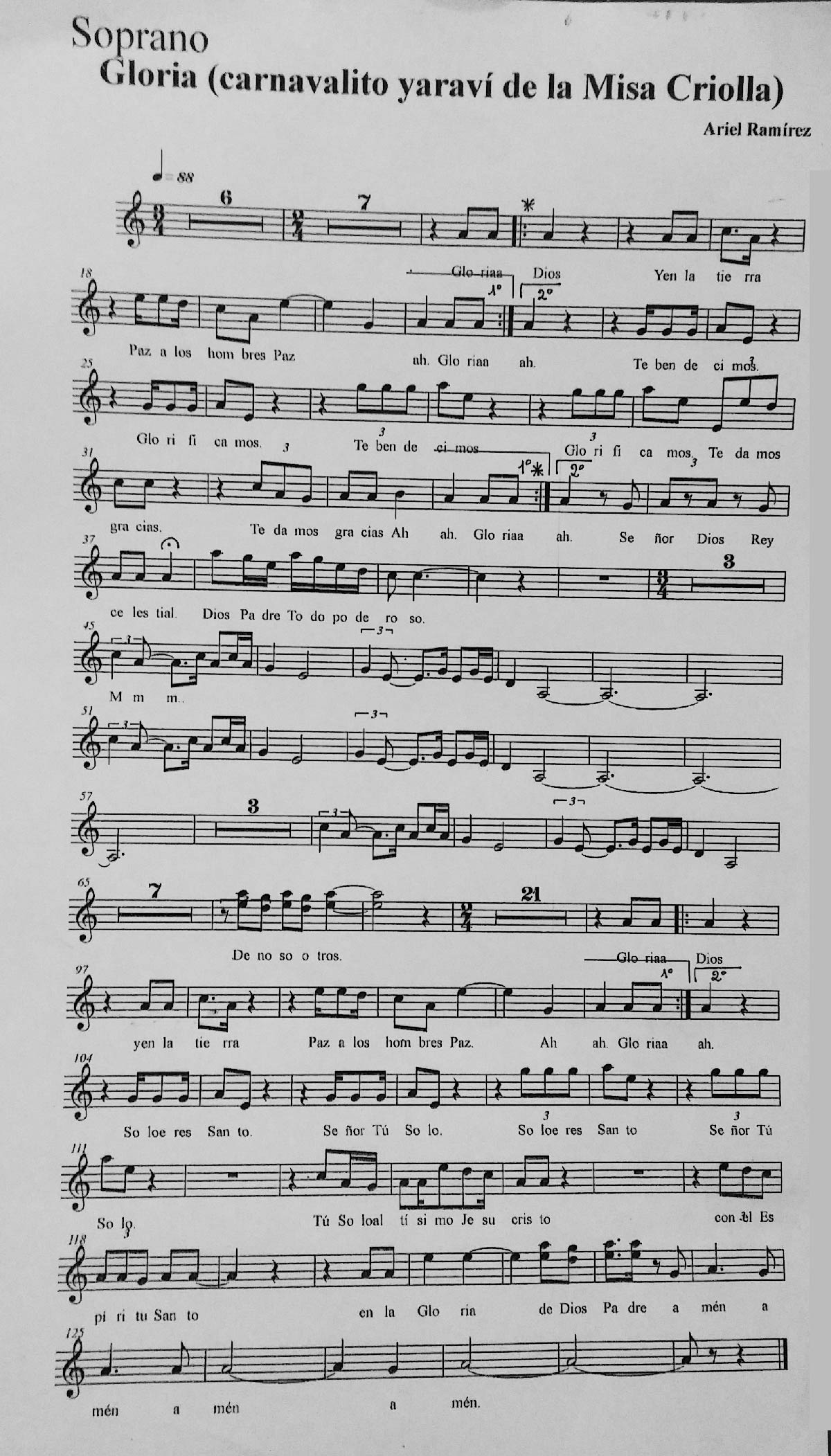 MISA CRIOLLA ARIEL RAMIREZ PARTITURA PDF DOWNLOAD