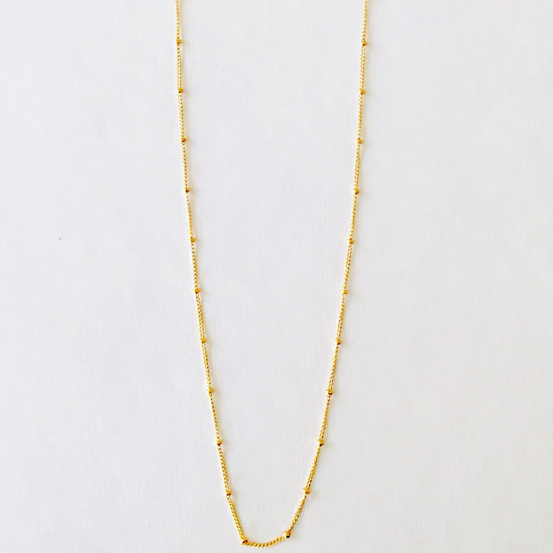 Christmas Lights Necklace Gold
