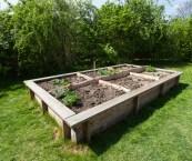 making a raised bed garden