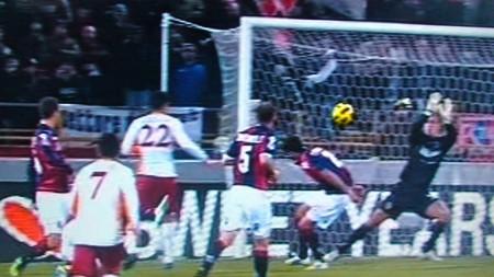 Roma-Bologna 1-0. La rete di De Rossi.