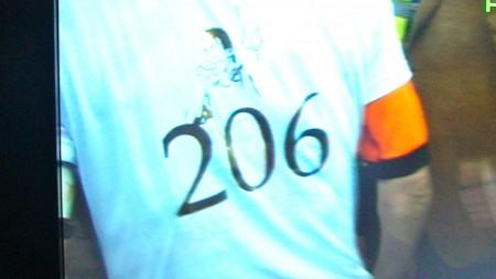 Totti con la maglia n. 206 indosso. Superato R.Baggio