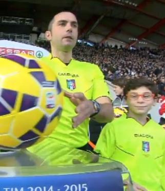 L'arbitro Guida concede giustamente la rete alla Roma