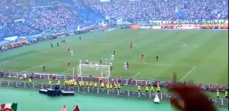 il goal di Yanga Mbiwa visto dalla sud