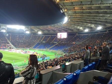 La curva sud durante Roma-Inter foto Roberto Rosi