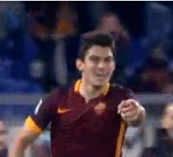 Perotti in goal soddisfattissimo