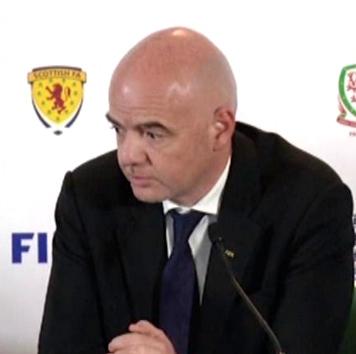 Il presidente FIFA Gianni Infantino