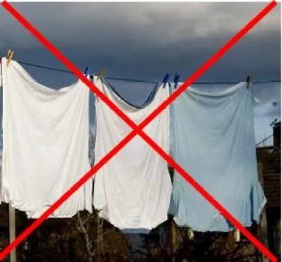 Forma de secagem que cria pontas nas barras das camisetas