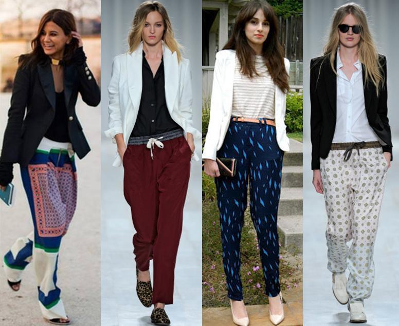 Roupas com calças de pijama