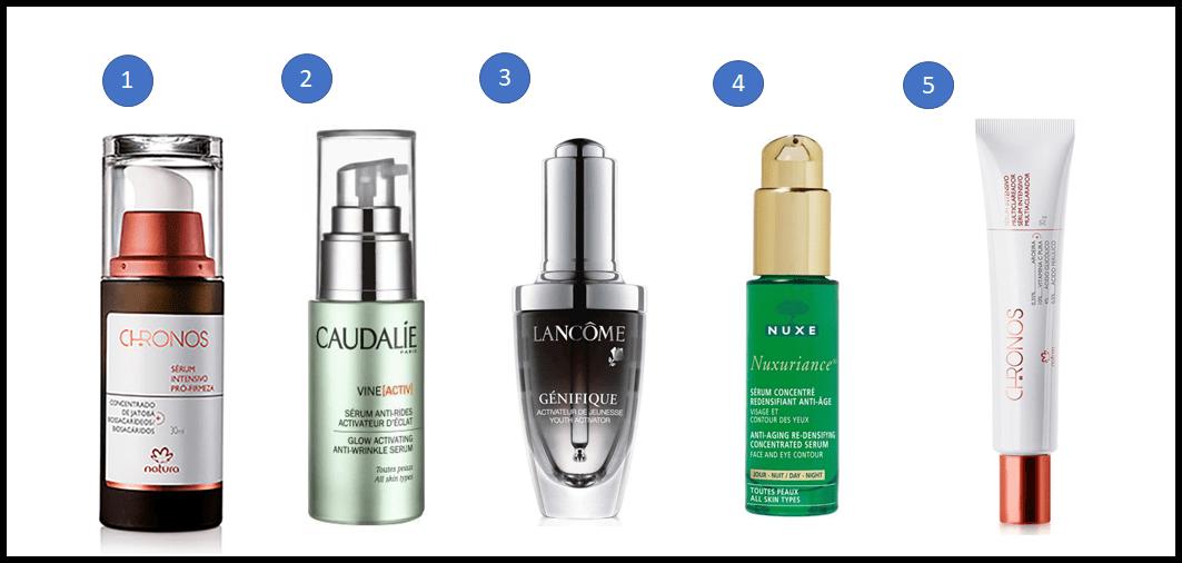 Ordem certa dos cosméticos faciais