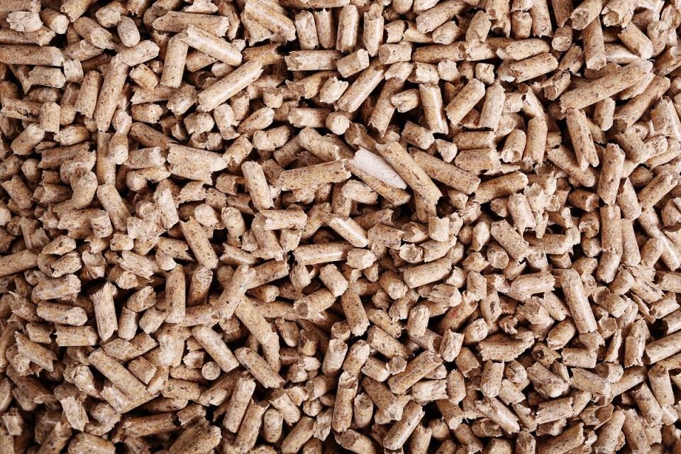 Los pellets están hechos de madera