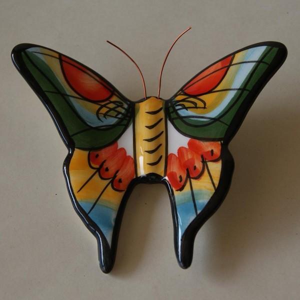 5 Mariposas de cermica pintadas a mano  Alma Nostra