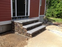 Outdoor stairs and stone steps for front & back yard ...