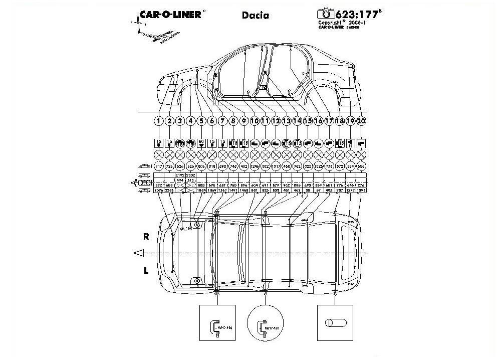 Размеры кузова (Страница 1) — Техническая информация