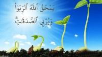 ماذا يفعل الله بالربا وماذا يفعل بالصدقات