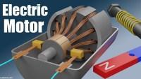 يتم انتاج المجال المعناطيسي في المحرك الكهربائي بواسطة