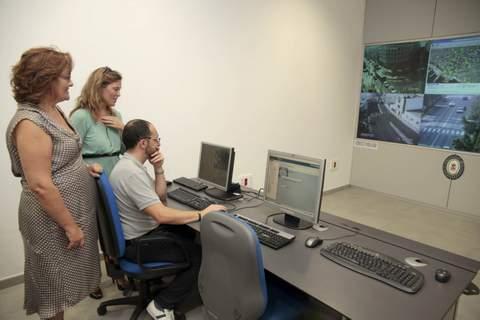 La nueva Sala de Control Semafórico ya está en funcionamiento en el edificio de la Jefatura de la Policía Local
