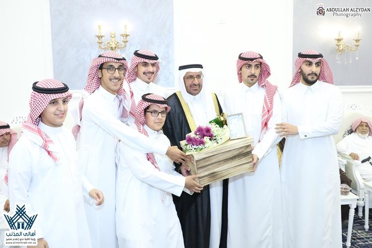 أسرة العقيلي تحتفي باللواء مهندس متقاعد: محمد بن إبراهيم العقيلي بمحافظة المذنب