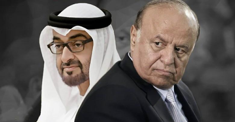 الرئيس اليمني عبدربه منصور هادي وولي عهد أبوظبي محمد بن زايد