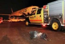حطام في مطار أبها في السعودية بعد أن هاجمه الحوثيون
