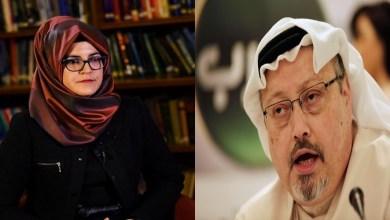 جمال خاشقجي وخطيبته خديجة جنكيز