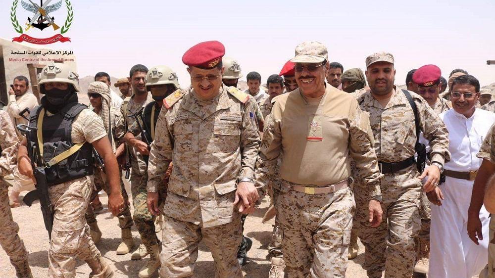 خروج قوات علي محسن وهاشم الأحمر