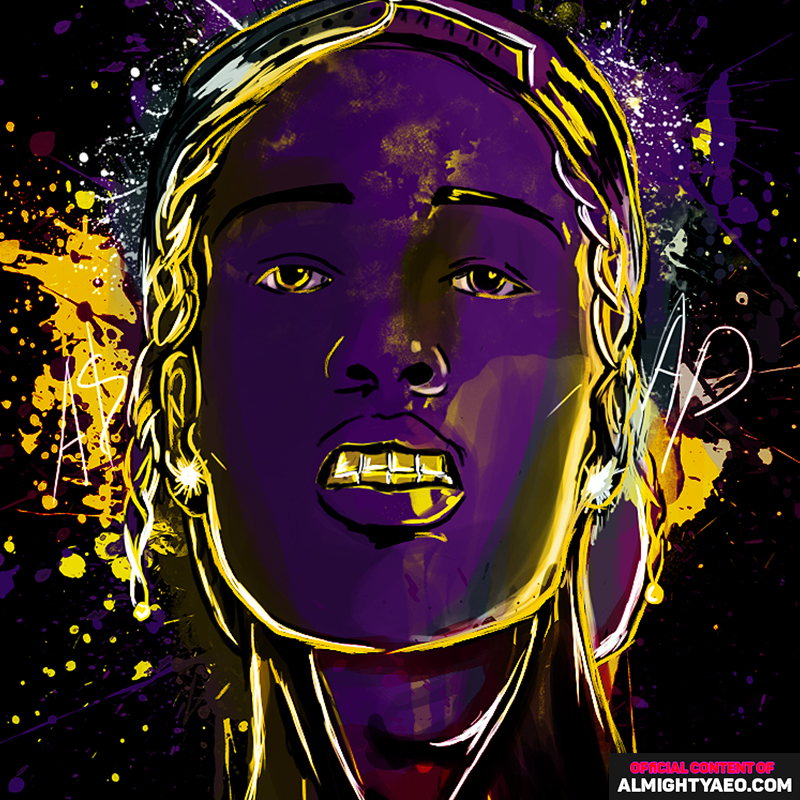 painting of rapper and actor asap rocky made by the almighty aeophex