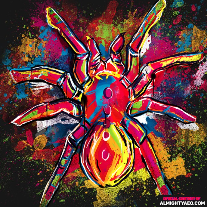 painting of a spider by the almighty aeophex