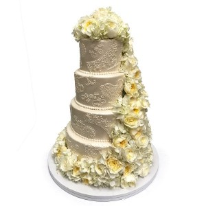 tort nunta floral