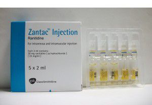 Zantac Inj 50mg 5Ampx 2ml Ranitidine
