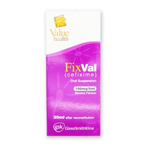 Fixval Suspention 100mg-5ml 30ml