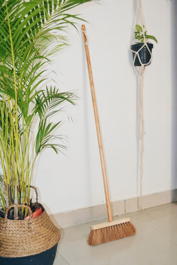 .Coconut Fiber –Stand Erect Sweeping Broom (Clean With Pride)
