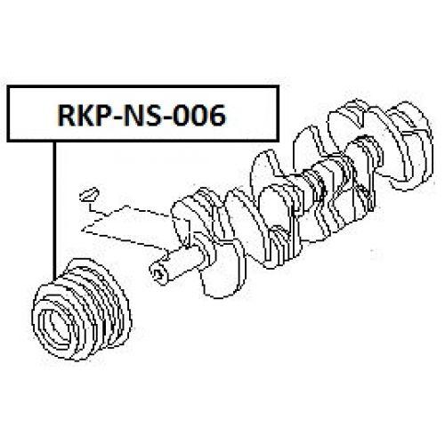 NTY Řemenice klika NISSAN RD28 2.8TDI PATROL Y61 1997-2006