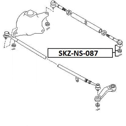 NTY Čep řízení levý NISSAN PATROL SAFARI GR Y61 D8570VS42A