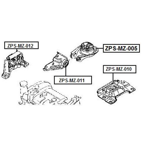 FEB Silentblok motoru MAZDA 3 BK BL 03- MAZDA 5 CR CW 05