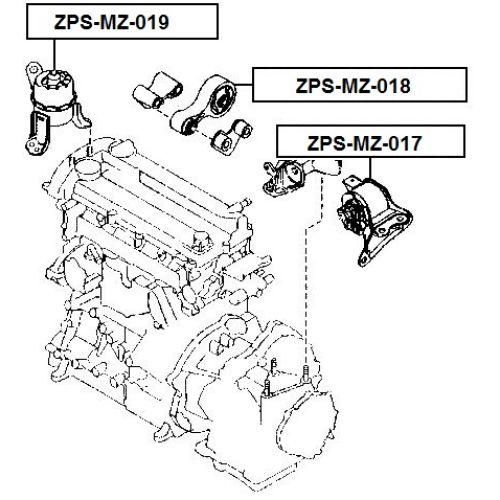 NTY Silentblok motoru MAZDA 6 GH 08-13 Zadní