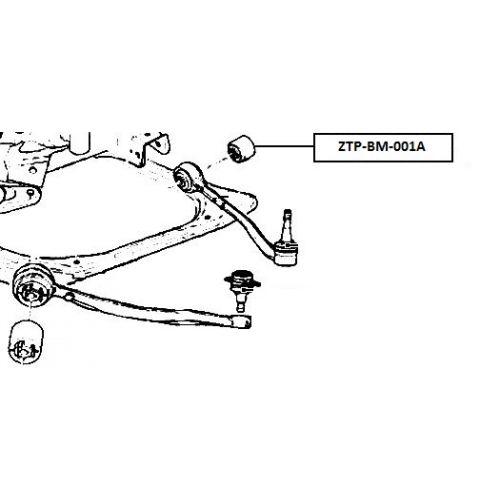 FEB SILENTBLOK RAMENO PŘEDNÍ HORNÍ BMW X5 E53 1999-2006