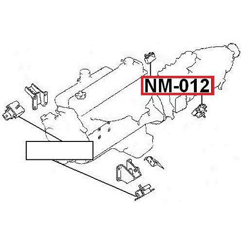 NTY Silentblok motor NISSAN PATROL/SAFARI Y60 Y61 GR 11320