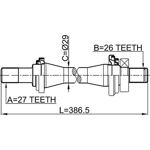 NTY Hřídel poloosa pravá HYUNDAI 2.7 V6 TUCSON 2004-2010