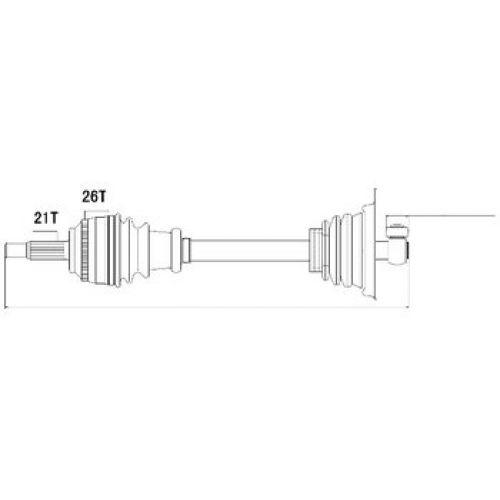 NTY Poloosa přední RENAULT CLIO II 1998-2005 KANGOO 1.9D